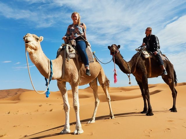 Riding Camels in the Sahara! Merzouga Morocco Travel Vlog