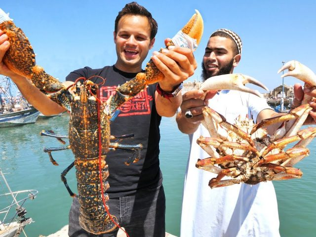 Mega Seafood and BBQ CAMEL in Morocco!