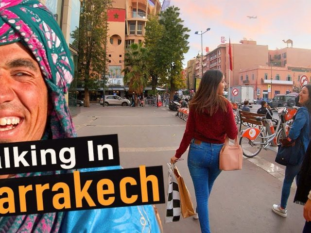 Walking Around Modern Marrakech 4k