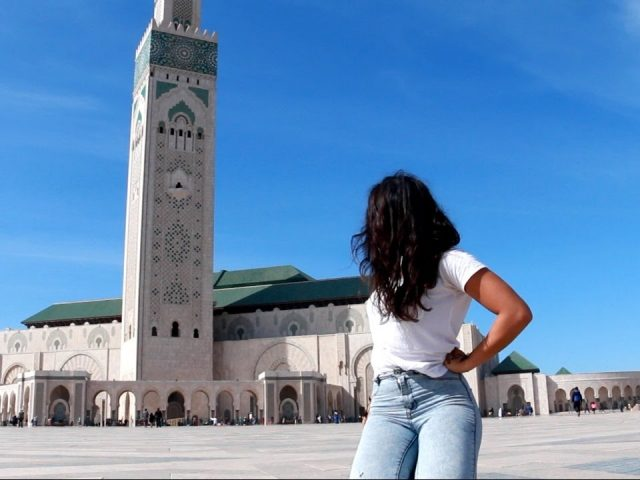 A girl travelling to Casablanca, Morocco