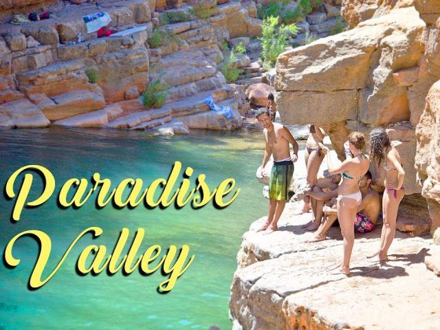 Cliff Jumping, Paradise Valley, Agadir, Morocco
